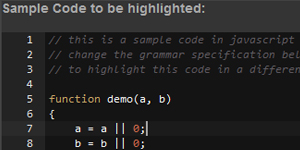 Transform a grammar in JSON format to an ACE syntax-highlight mode with ACE Grammar