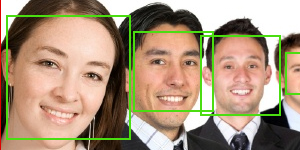 Many Faces Detection with HAAR.js & openCV cascades