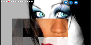NoFlash Slideshow, multiple customised transition effects, jQuery plugin