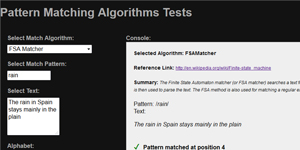Study & analysis of various Pattern Matching Algorithms in JavaScript