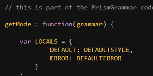 Transform a grammar in JSON format to a syntax-highlighter for Prism with Prism Grammar
