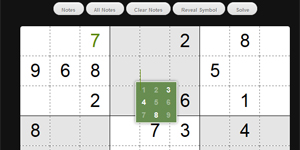 sudoku.js, Sudoku game, builder & solver in pure JavaScript. Scaled-down version of CrossWord.js a professional Crossword Builder, by same author